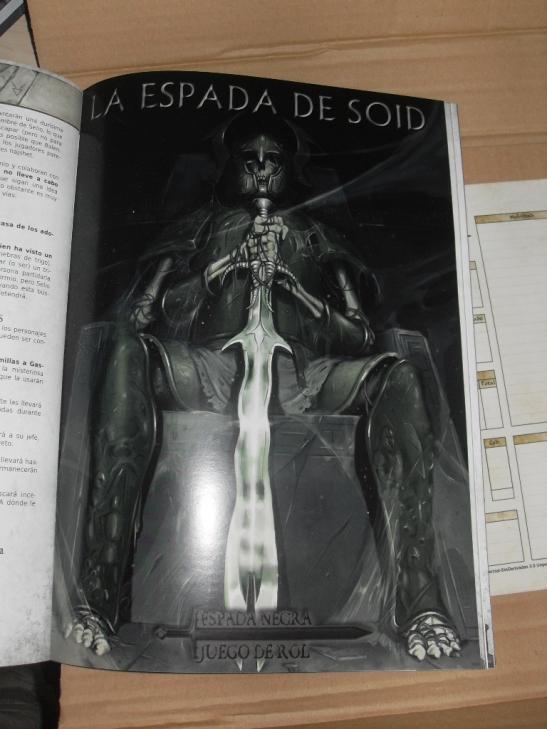 La portada de la aventura La Espada de Soid, incluída en la revista